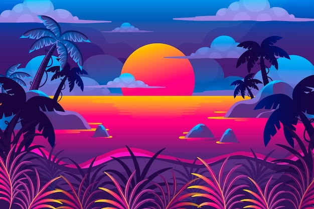 Thème du paysage d'été