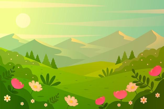 Thème du printemps pour le paysage