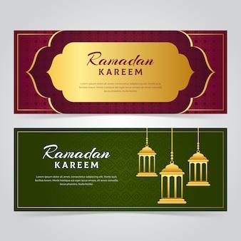 Thème du ramadan pour les bannières