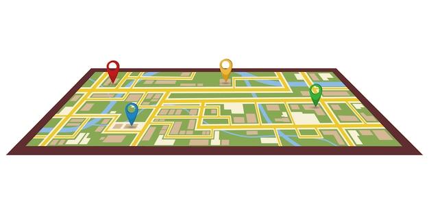 Thème du tableau de bord infographique créatif de la navigation sur la carte de la ville.