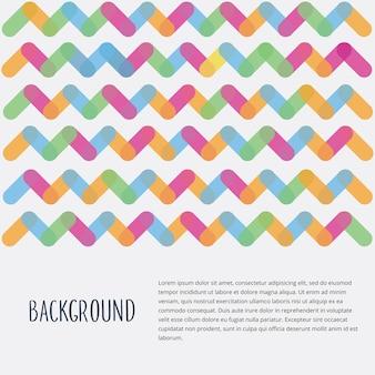 Thème des éléments géométriques colorés