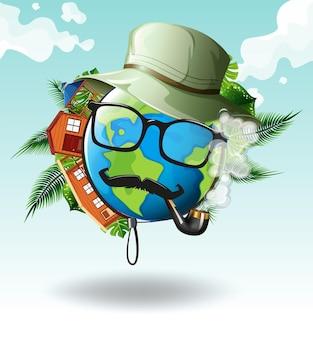 Thème environnemental avec pipe en terre