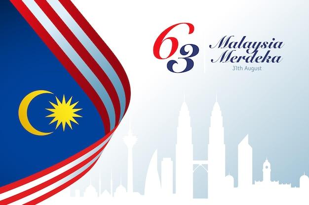 Thème de l'événement hari merdeka