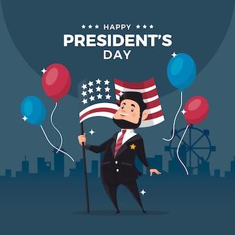 Thème de l'événement de la journée des présidents plats