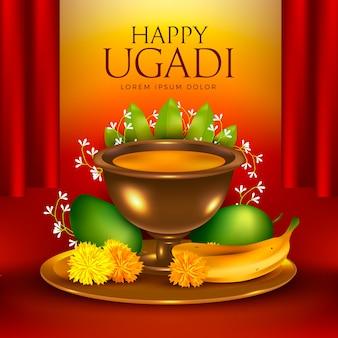 Thème festif ugadi heureux réaliste