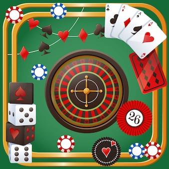 Thème de fête de casino