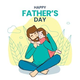 Thème de la fête des pères dessiné à la main