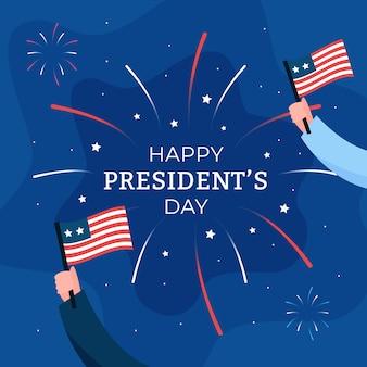 Thème des feux d'artifice pour la journée des présidents