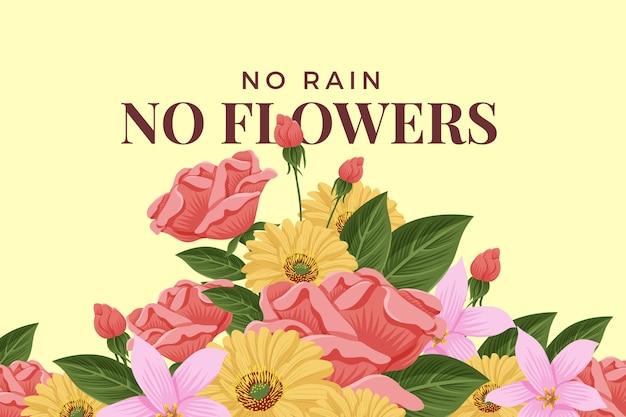 Thème de fleurs vintage 2d pour le fond
