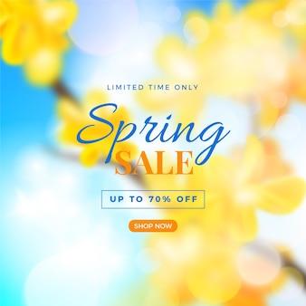 Thème flou pour les soldes de printemps