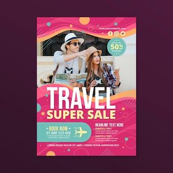Thème de flyer de vente de voyage