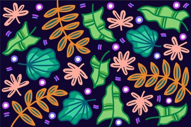 Thème de fond abstrait feuilles tropicales
