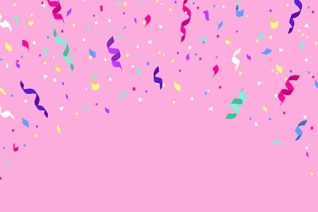 Thème de fond de confettis design plat