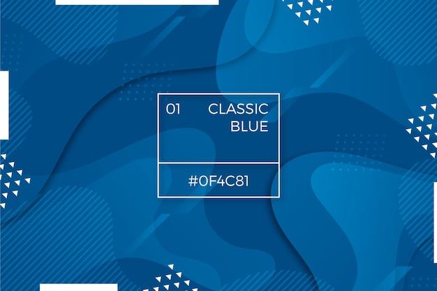 Thème de fond d'écran abstrait bleu classique moderne