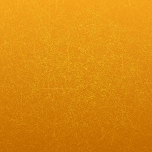 Thème de fond d'écran avec des lignes fines sur fond orange