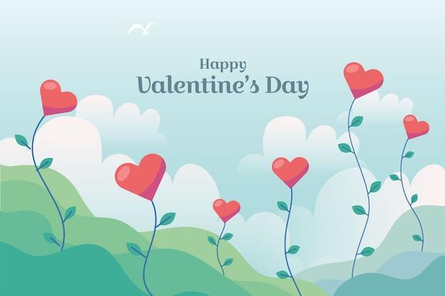 Thème de fond d'écran saint valentin dessiné à la main