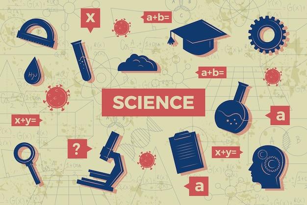 Thème de fond de l'éducation scientifique vintage
