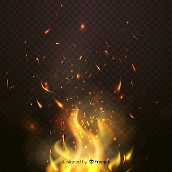 Thème de fond effet étincelles de feu
