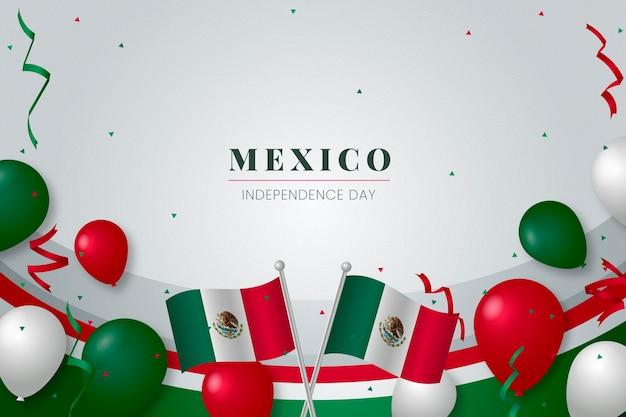 Thème de fond de la fête de l'indépendance du mexique