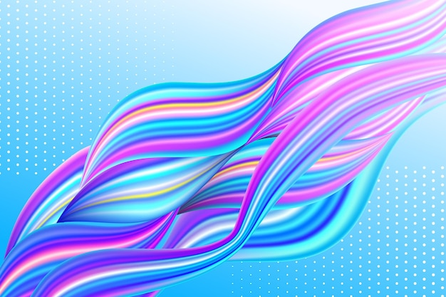 Thème de fond de flux de couleur