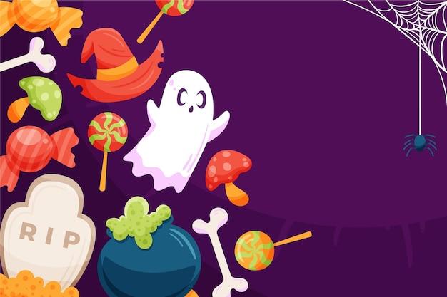 Thème de fond d'halloween heureux
