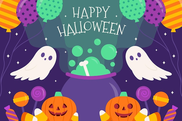 Thème de fond d'halloween