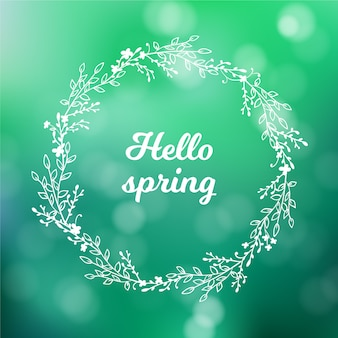 Thème de fond de printemps flou