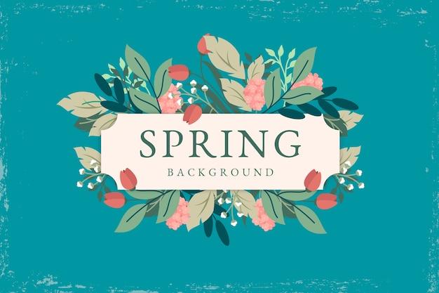 Thème de fond de printemps vintage