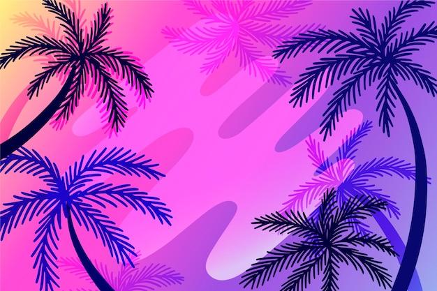 Thème de fond de silhouettes de palmier