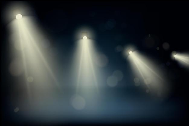 Thème de fond de spots lumineux