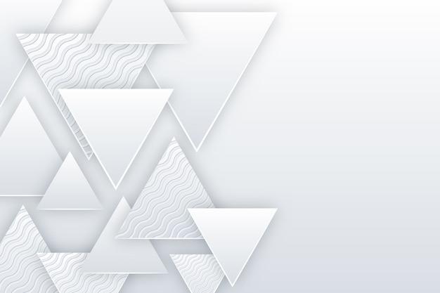 Thème de fond de style de papier 3d