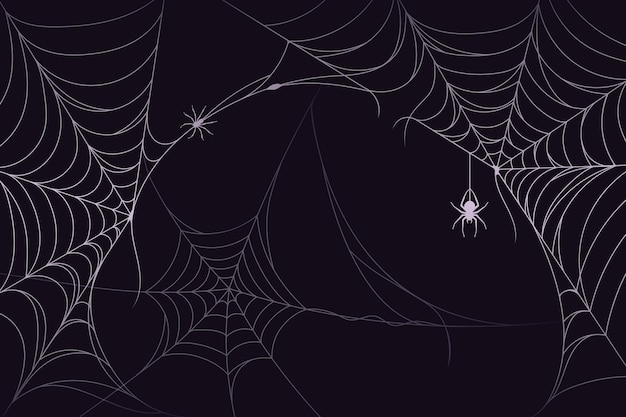 Thème de fond de toile d'araignée halloween