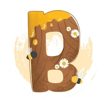 Thème de la forêt de lettres de l'alphabet