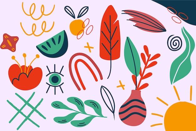 Thème des formes organiques abstraites pour le concept de papier peint