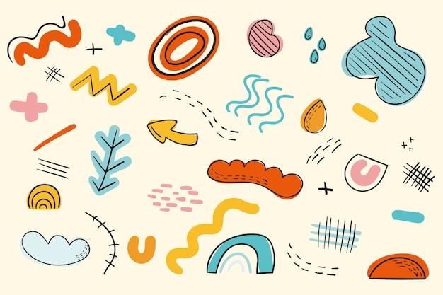 Thème des formes organiques abstraites pour le fond