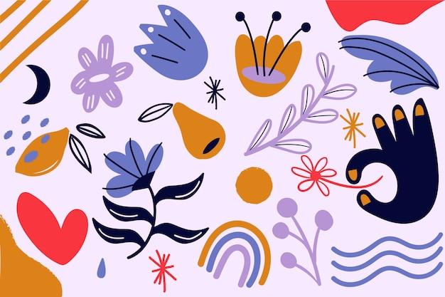 Thème des formes organiques abstraites pour le thème du papier peint