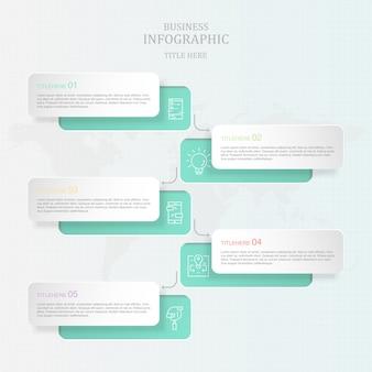 Thème gris infographie et icônes pour le concept d'entreprise actuelle.