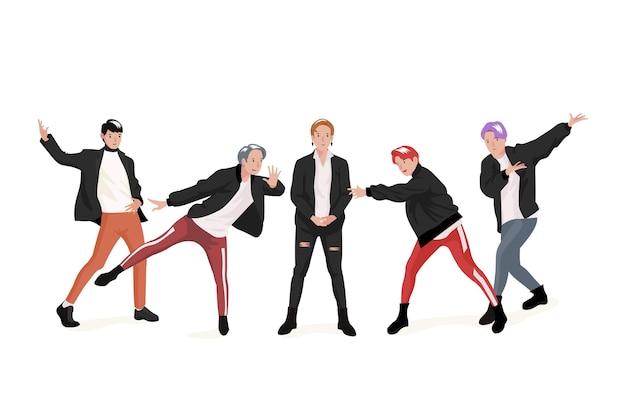 Thème de groupe de garçons k-pop