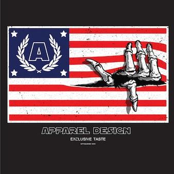 Thème grunge drapeau américain