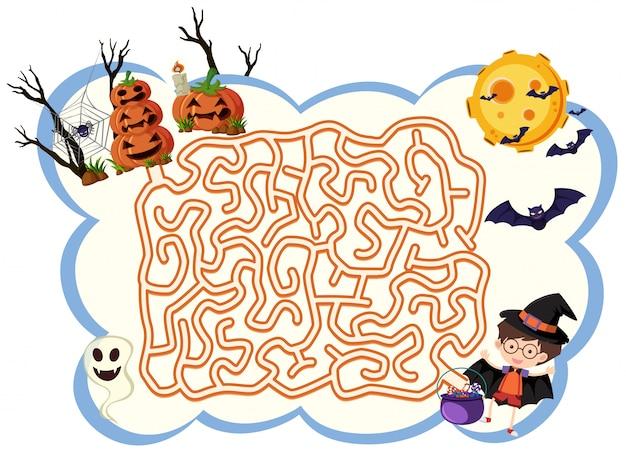 Thème de halloween modèle de jeu maxe