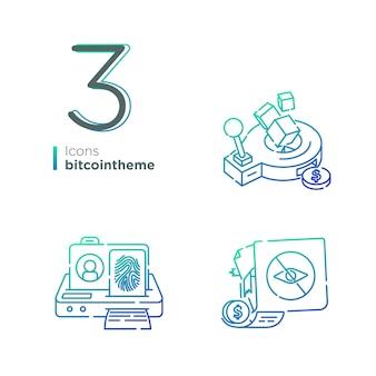 Thème d'icône de pièce de monnaie
