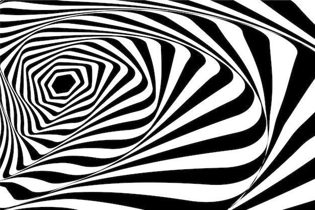 Thème d'illusion d'optique psychédélique