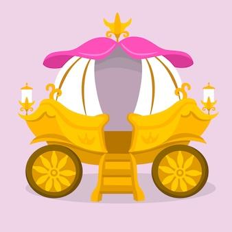 Thème d'illustration de chariot de conte de fées