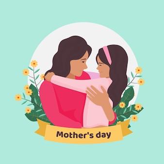 Thème d'illustration de la fête des mères