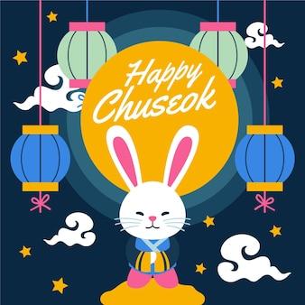 Thème illustré du festival chuseok