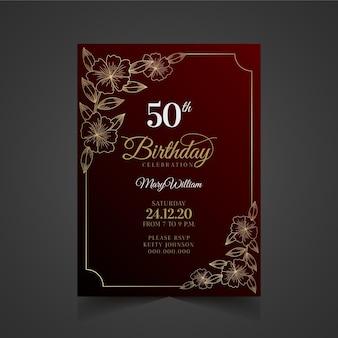 Thème d'invitation d'anniversaire élégant