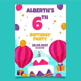 Thème d'invitation d'anniversaire pour enfants
