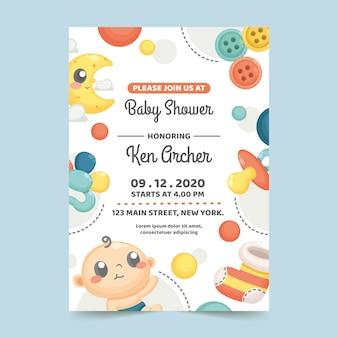 Thème d'invitation de douche de bébé