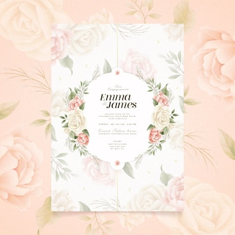 Thème d'invitation d'engagement floral