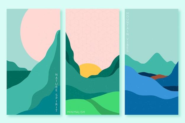 Thème japonais minimaliste de la collection de couvertures